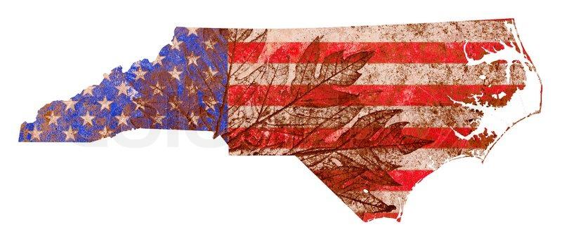 North Carolina State Map Flag Pattern | Stock Photo | Colourbox