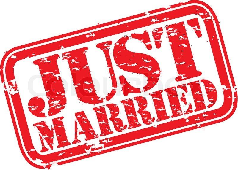 Grunge Just Married Rubber Stamp Vector Illustration