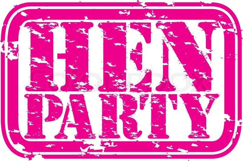 e7b8095305 Grunge hen party rubber stamp