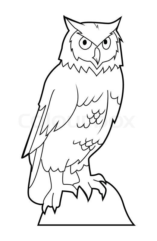 Owl stock vector