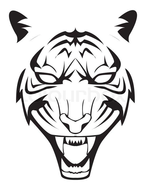 Tiger Face Stock Vector Colourbox