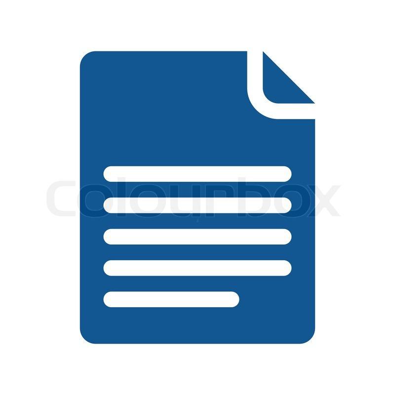 Icon Page Curl Blue Stock Vector Colourbox