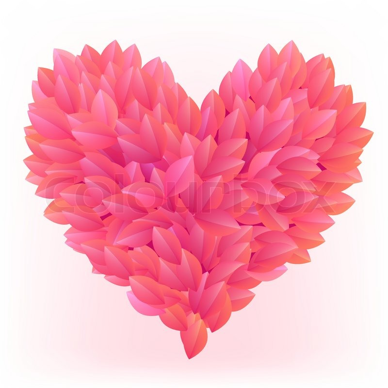 Beautiful heart made from pink petals stock vector colourbox mightylinksfo