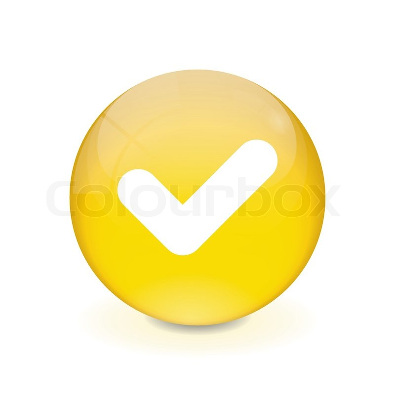 yellow check box. checked checkbox icon from business bicolor set this flat vector symbol round yellow button checkmark check box