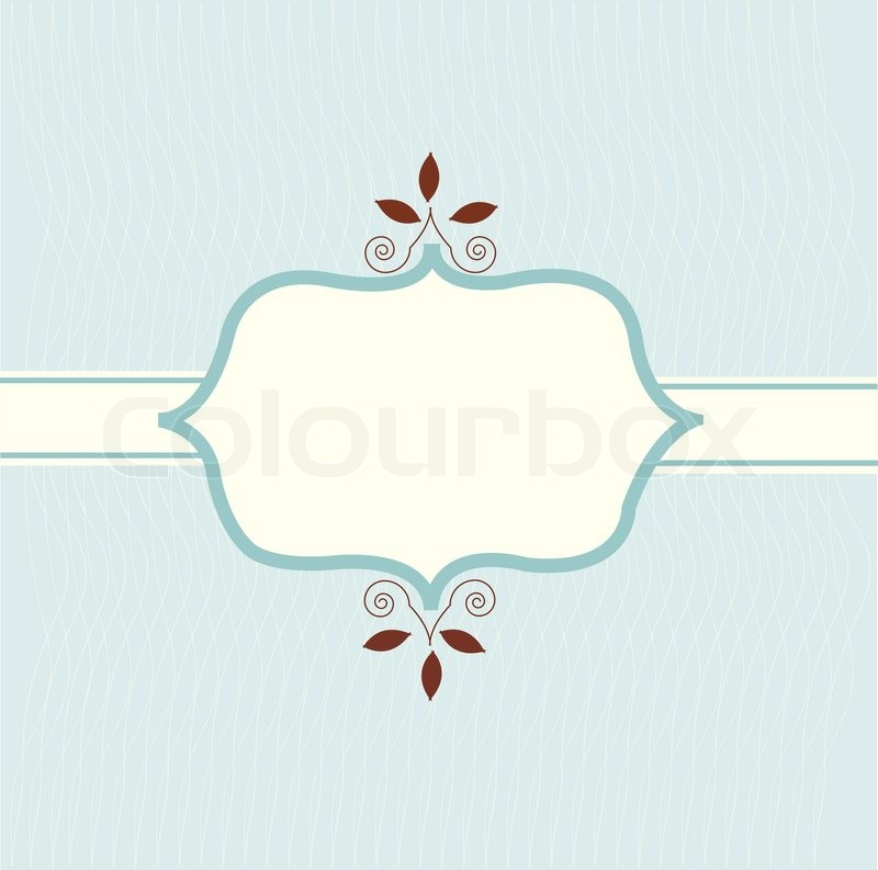 Vintage invitation card and logo template | Stock Vector ...