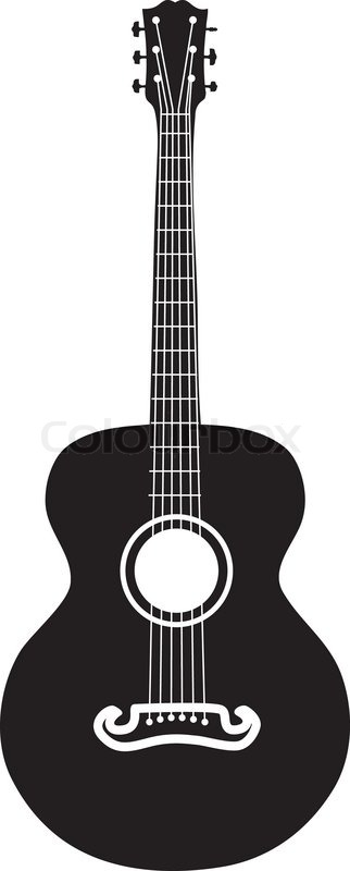 acoustic guitar silhouette stock vector colourbox rh colourbox com acoustic guitar vector png acoustic guitar headstock vector