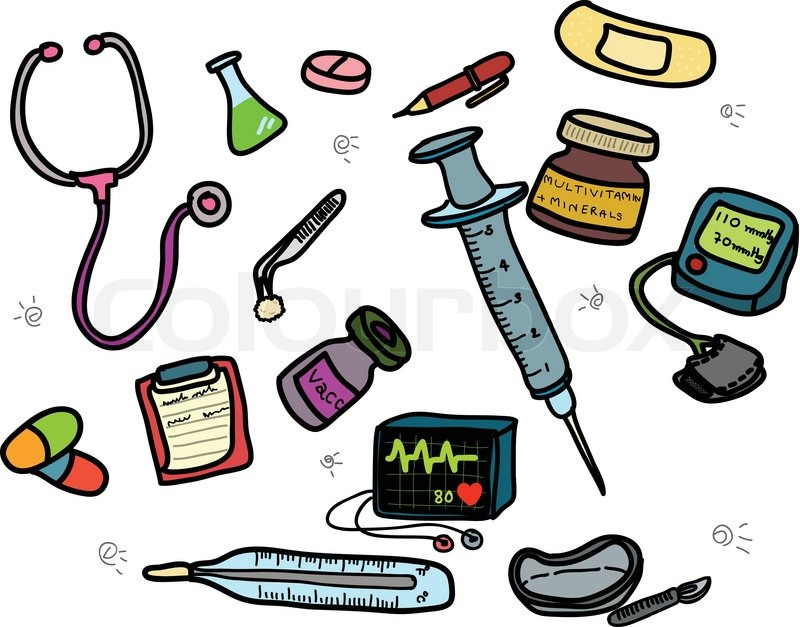 Vector of doctor's tools collection | Stock Vector | Colourbox