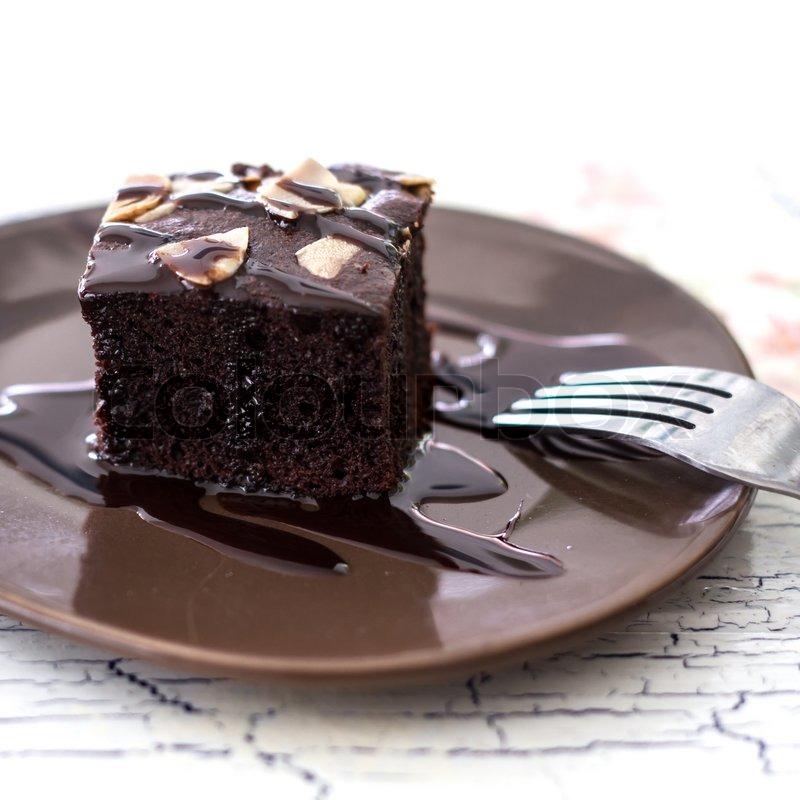Brownie Kuchen Stockfoto Colourbox
