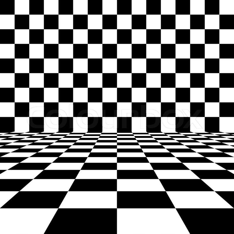 Abstract Black And White Checkered Background Stock