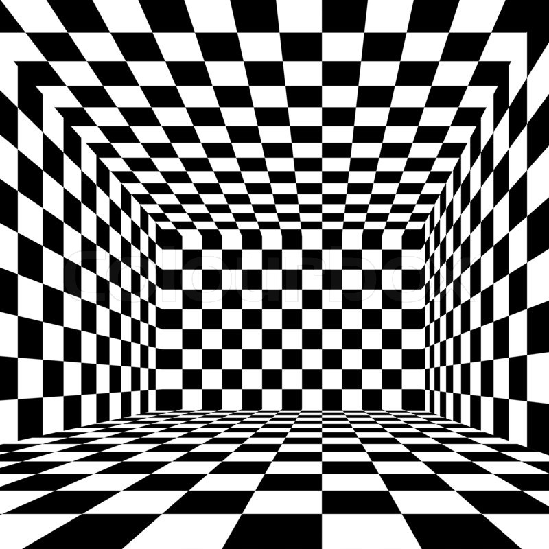 Black white checkered wallpaper