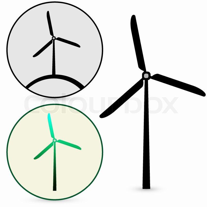 Wind Turbine Vector Stock Vector Colourbox
