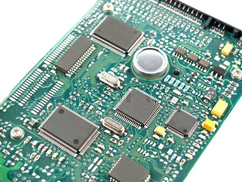 computer teile wie leiterplatten memory chips cpu und. Black Bedroom Furniture Sets. Home Design Ideas