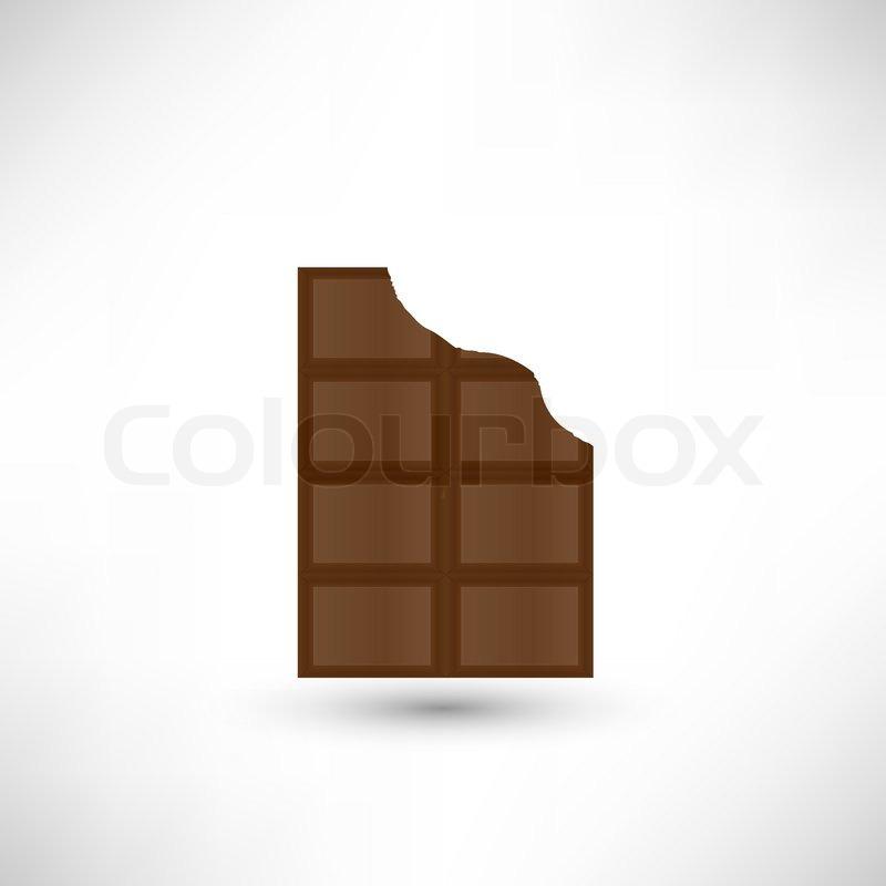 bitten off a piece of delicious chocolate bar stock vector colourbox rh colourbox com chocolate vector free chocolate victoria sponge recipe