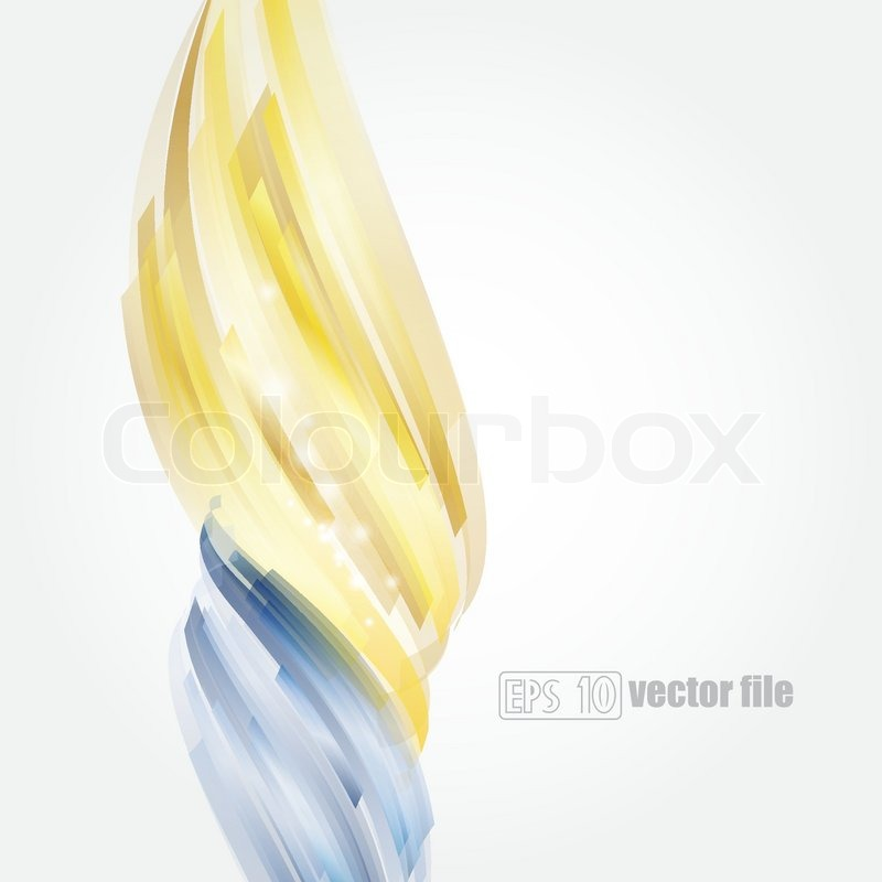 abstract bright blue and gold background vector stock