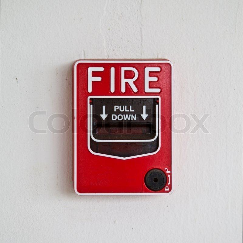 Fire Alarm Pull Box Stock Photo Colourbox