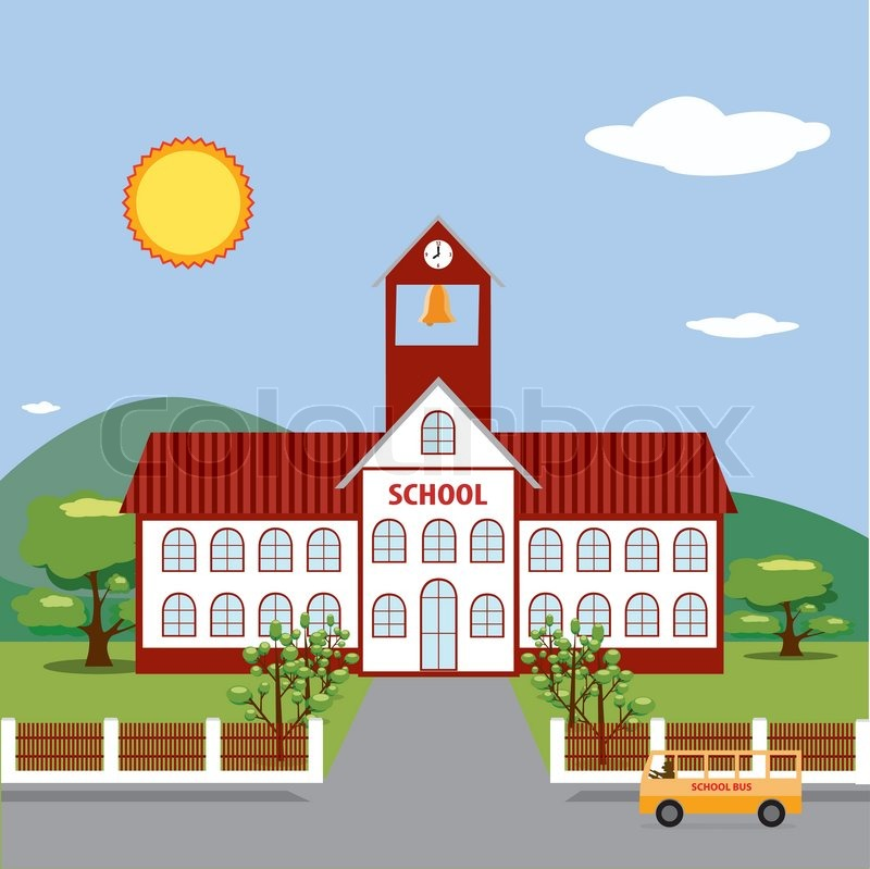 illustration of school building stock vector colourbox house cleaning clip art free house cleaning clip art black & white
