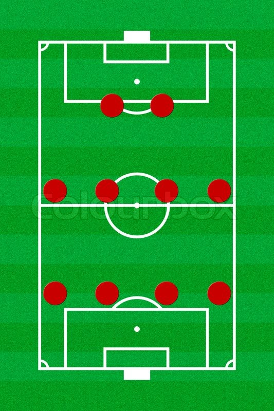 soccer field layout with formation 4