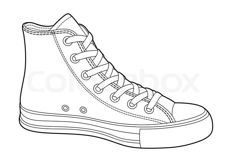Locker Schuh Alt Vektorgrafik Colourbox