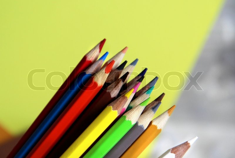 Multicolored pencils, stock photo
