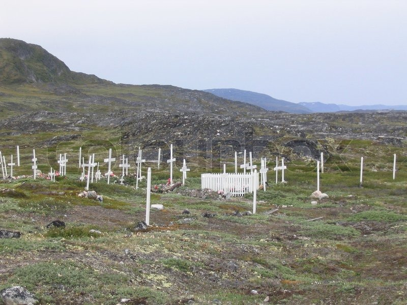 Editorial image of 'Cemetery in Greenland'