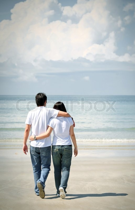 Images of indian couple walking together