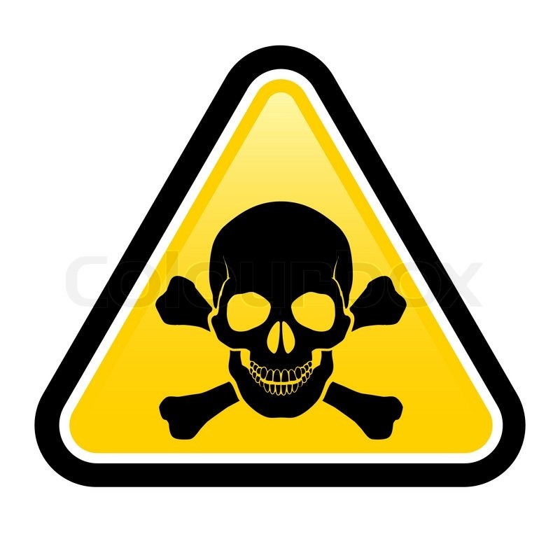 Skull danger signs | Stock Vector | Colourbox