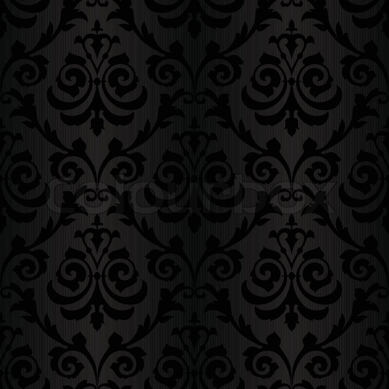 seamless black silk wallpaper pattern stock vector. Black Bedroom Furniture Sets. Home Design Ideas