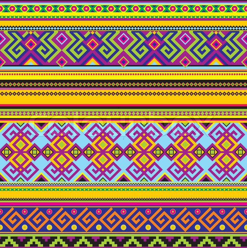 Mexican Background Stock Vector Colourbox