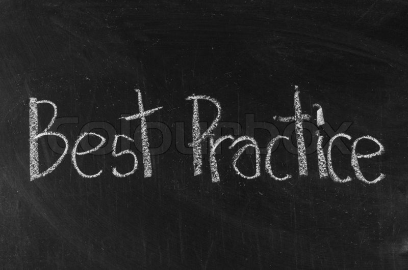 Best Practice Written On Blackboard Background High Resolution