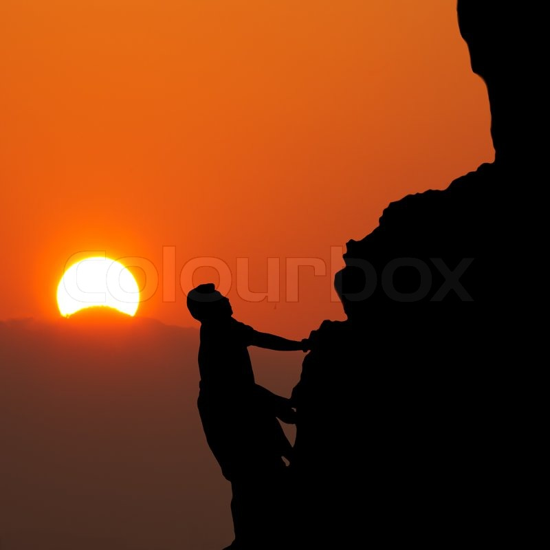 Mountain climber, stock photo