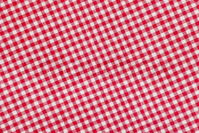 Ed And White Checkered Tablecloth Background Texture