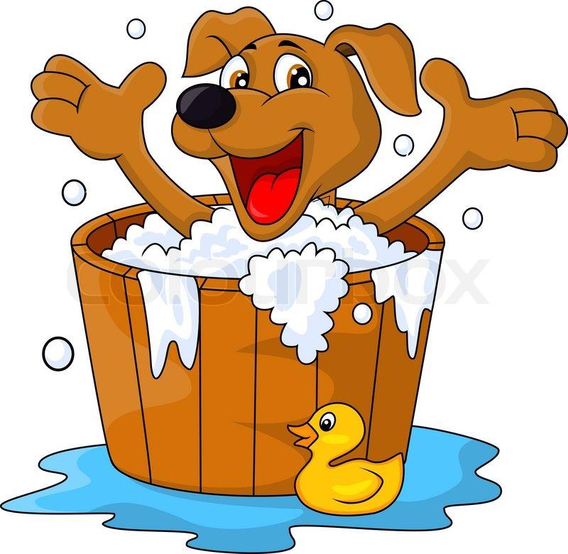 vector illustration of dog cartoon bathing time stock puppy clip art photos puppy clip art photos