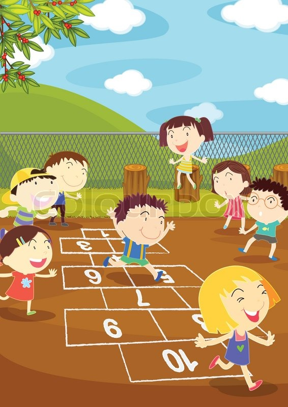 development hopscotch game as a learning