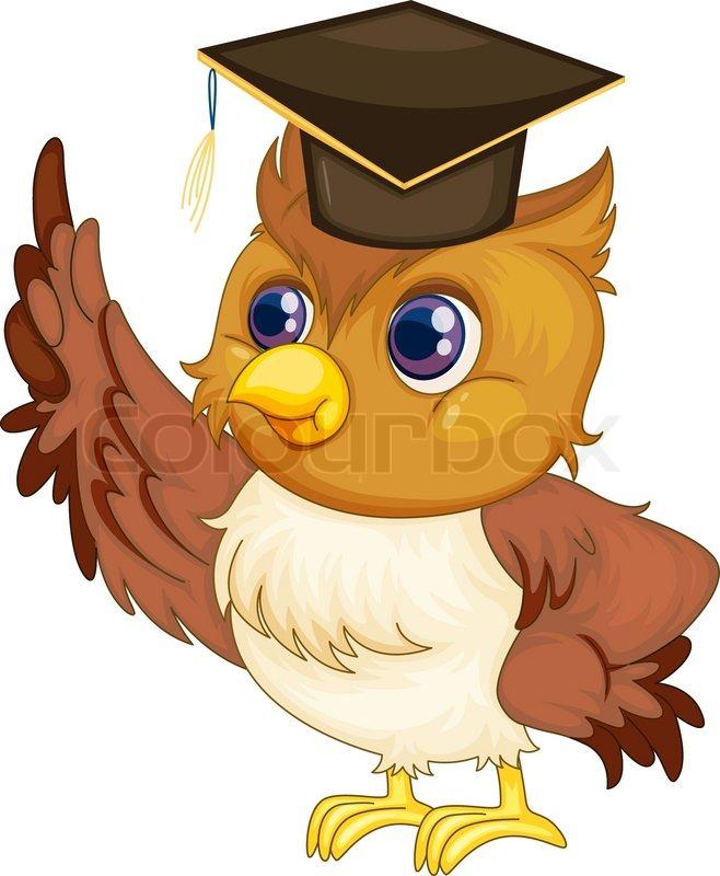 wise owl stock vector colourbox Colorful Owl Art Cute Cartoon Owls
