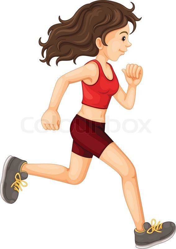 Stock vector of 'Woman running'