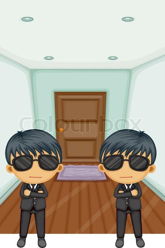 Vor der tür  Bodyguards vor der Tür | Vektorgrafik | Colourbox