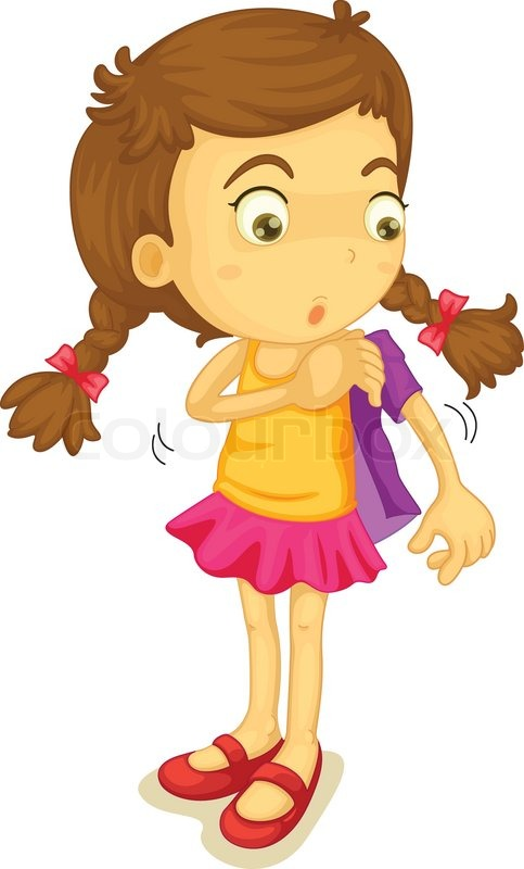 girl getting dressed vector colourbox