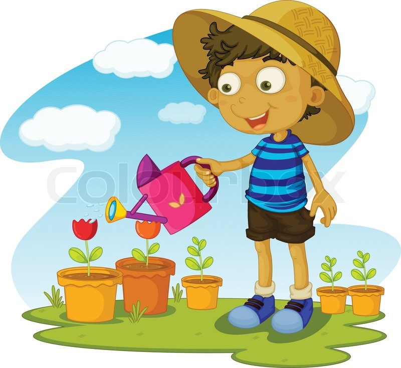 Gartenarbeit | Vektorgrafik | Colourbox