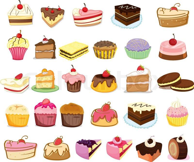 Kuchen Und Desserts Vektorgrafik Colourbox