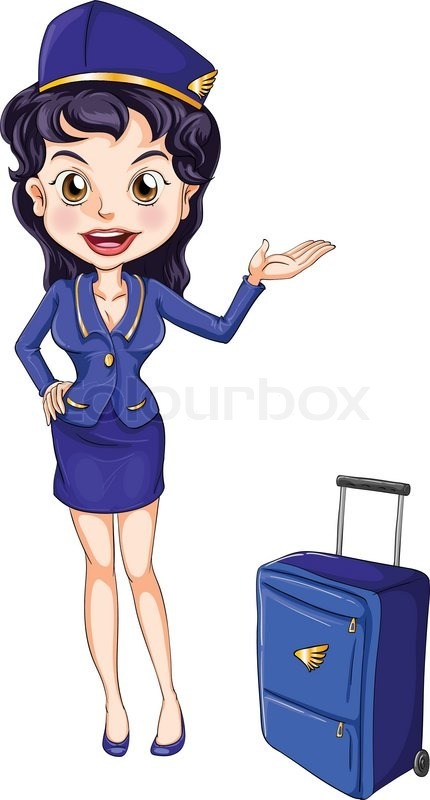 Air Hostess Stock Vector Colourbox