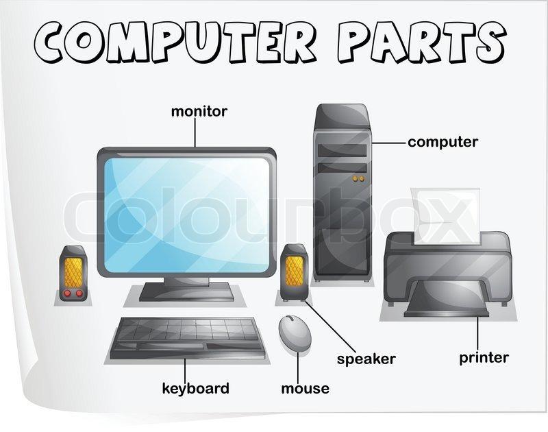 Computer parts | Vector | Colourbox