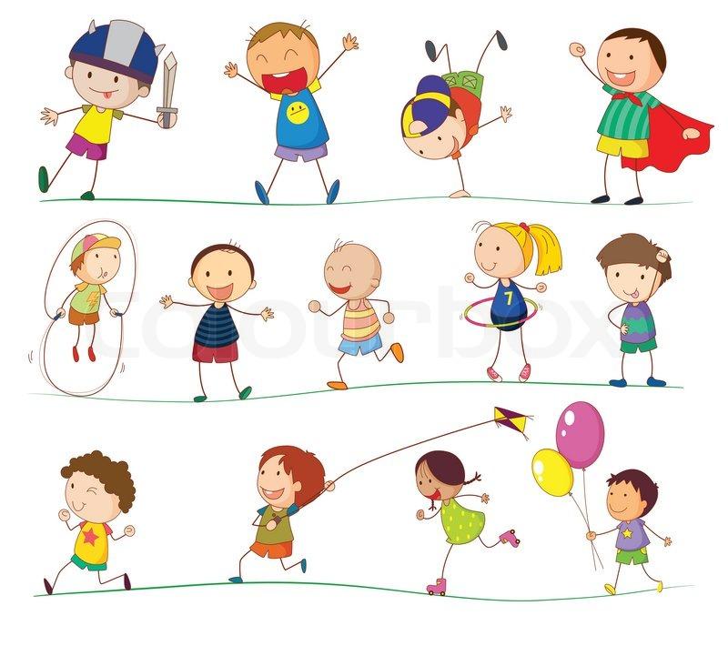 Simple kids | Stock Vector | Colourbox