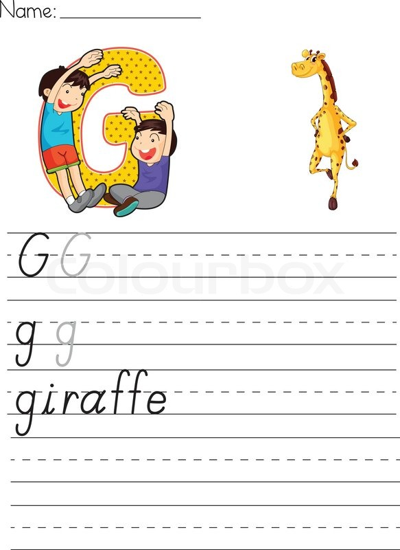 Alphabet Arbeitsblatt   Vektorgrafik   Colourbox
