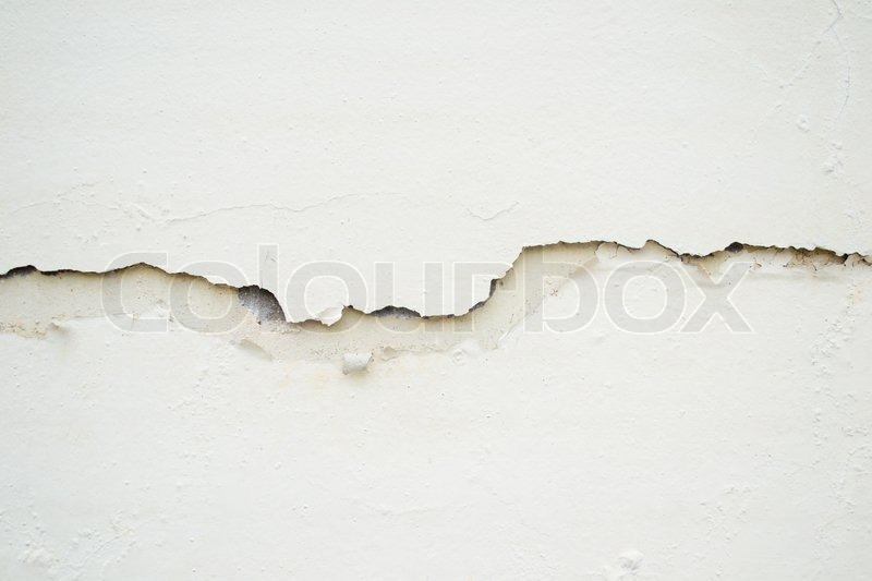 Cracked white wall | Stock Photo | Colourbox