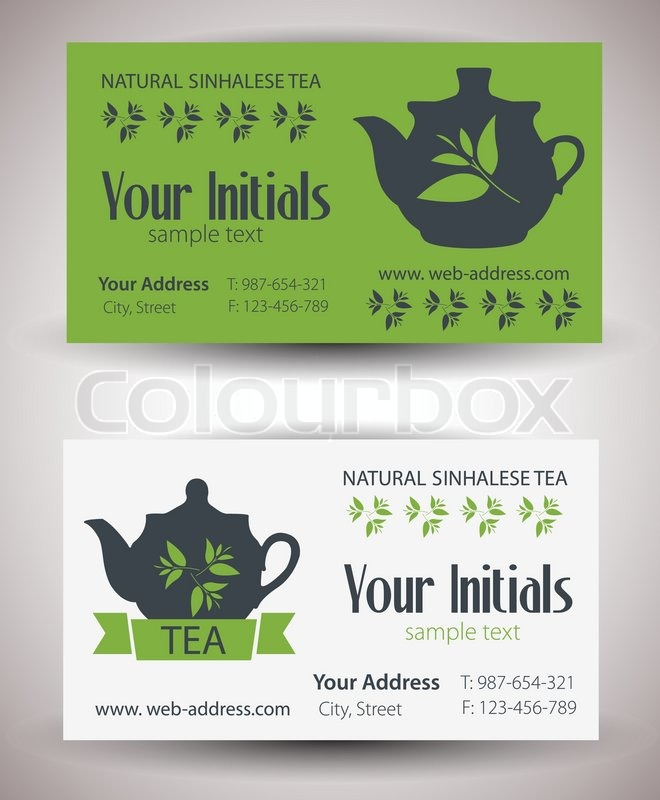 Business card for tea business   Stock Vector   Colourbox