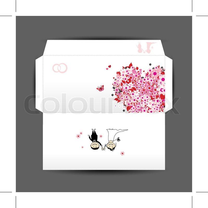 Design of wedding envelope stock vector colourbox design of wedding envelope vector stopboris Choice Image