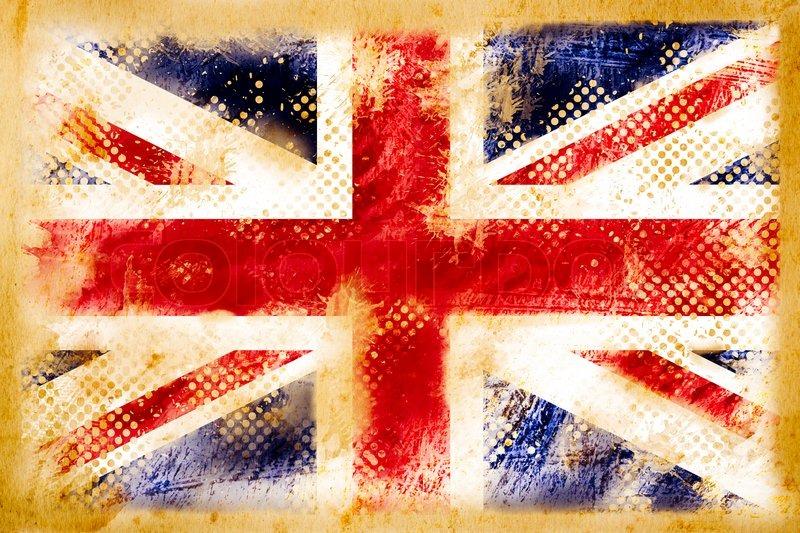 British Flag Grungeon Old Vintage Paper