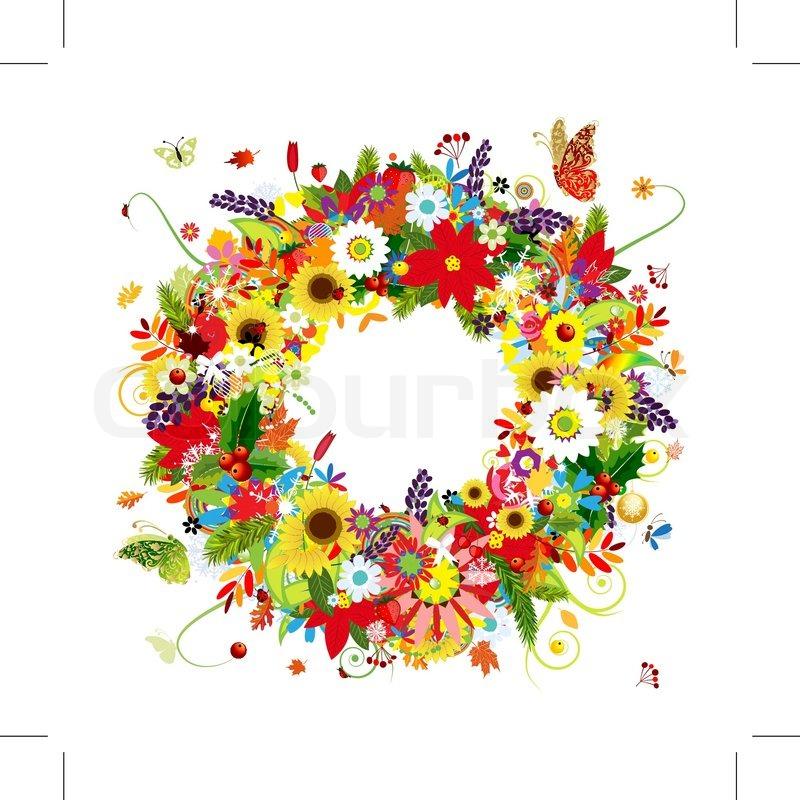 Verziert, rahmen, kranz | Vektorgrafik | Colourbox