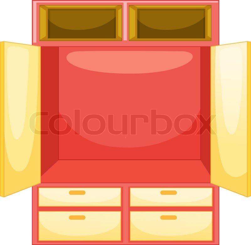 Kleiderschrank clipart  Isolated Kleiderschrank | Vektorgrafik | Colourbox