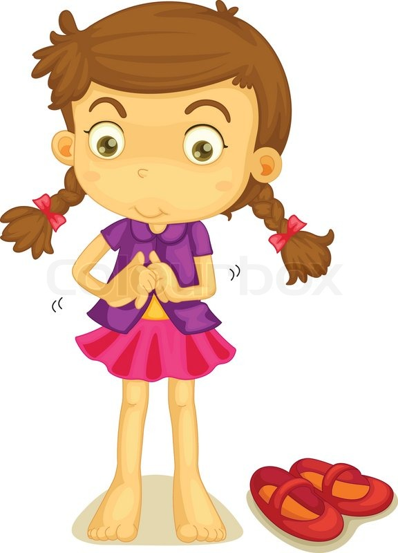dressing stock vector colourbox getting dressed clipart child getting dressed clipart